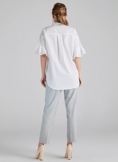 Fırfır Kol Şeritli Gömlek-Ipekyol